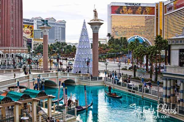 Winter Decorations At Venetian Las Vegas